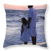 Sunset Kids Throw Pillow