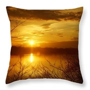 Sunset Lake Galena Throw Pillow