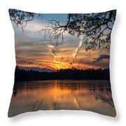 Sunset Lake Horicon Lakehurst New Jersey Throw Pillow