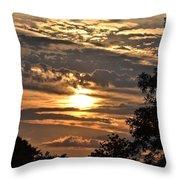 Sunset Layers Throw Pillow