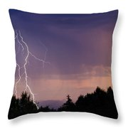 Sunset Lightning Throw Pillow