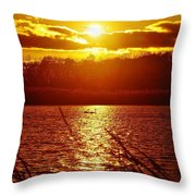 Sunset Love At Crosswinds Throw Pillow