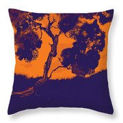 Sunset Madrone Throw Pillow