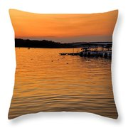 Sunset Marina Throw Pillow