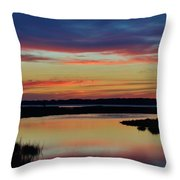Sunset Marsh Throw Pillow