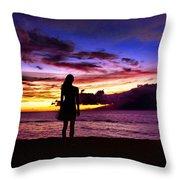 Sunset Maui Style Throw Pillow