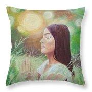 Sunset Meditation Throw Pillow