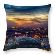 Sunset Metro Lights And Splendor Throw Pillow
