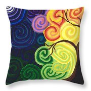 Sunset Moonrise Throw Pillow