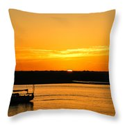 Sunset Morro Bay California Throw Pillow