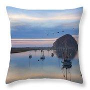 Sunset Morro Bay Throw Pillow