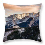 Sunset Mountains Throw Pillow