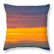 Sunset Near Honolulu Harbor Throw Pillow
