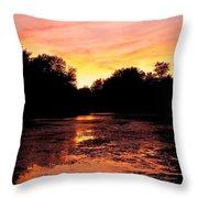 Sunset Near Rosemere - Qc Throw Pillow