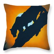 Sunset Night Hunt Throw Pillow