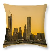 Sunset Ny Throw Pillow