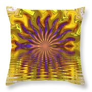 Sunset Of Sorts Throw Pillow by Elizabeth McTaggart