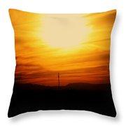 Sunset Of Tularosa Throw Pillow