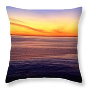 Sunset Off Point Vicente Throw Pillow