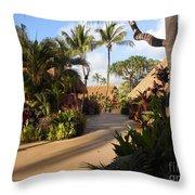 Sunset Old Lahaina Luau Throw Pillow