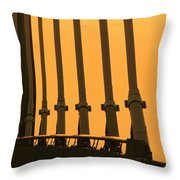 Sunset On A Bridge Throw Pillow