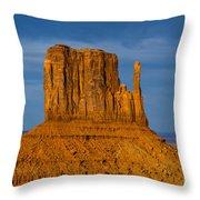 Sunset On A Mitten Throw Pillow