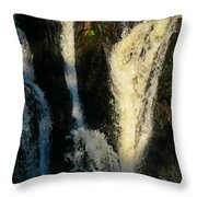 Sunset On A Waterfall Throw Pillow