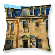 Sunset On An Old Toronto Home Throw Pillow