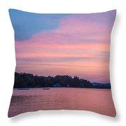 Sunset On Chickawaukee Lake Throw Pillow