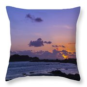 Sunset On Guernsey Throw Pillow