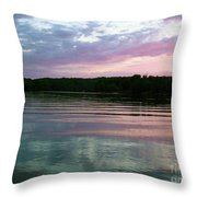 Sunset On Gull Lake Throw Pillow