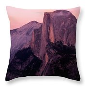 Sunset On Half Dome As Seen Throw Pillow