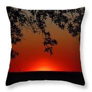 Sunset On Jekyll Island Throw Pillow