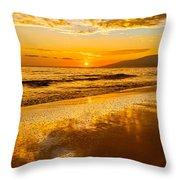Sunset On Lahaina Throw Pillow