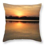 Sunset On Lake Throw Pillow