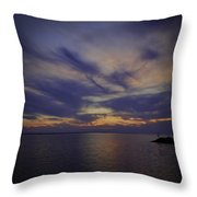 Sunset On Lake Poygan 1 Throw Pillow