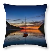 Sunset On Lake Willoughby Throw Pillow