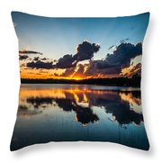 Sunset On Little Pine Lake Throw Pillow