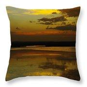 Sunset On Medicine Lake Throw Pillow