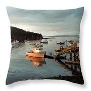 Sunset On Mount Desert Island Maine Throw Pillow