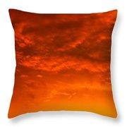Orange Cloud Sunset Throw Pillow
