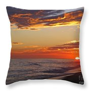 Sunset On Newport Beach Throw Pillow