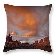 Sunset On Park Avenue Throw Pillow