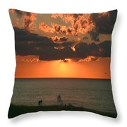 Sunset On Race Point Beach Throw Pillow