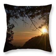 Sunset On San Jacinto Throw Pillow