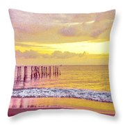 Sunset On Tahiti Throw Pillow