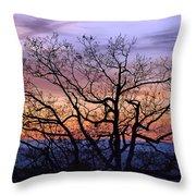 Sunset On Tanners Ridge Throw Pillow