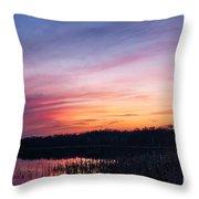 Sunset On Teeple Lake Throw Pillow