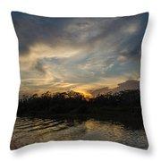 Sunset On The Amazon 1 Throw Pillow