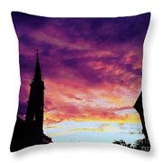Sunset On The Basilica  Throw Pillow
